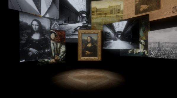 Virtual reality vision of Mona Lisa