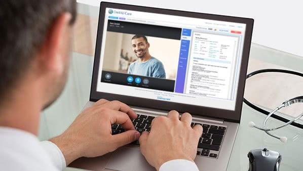 Patient video streams healthcare conversation