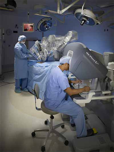 Surgeons looking at images