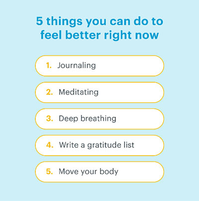 Screenshot of 5 things you can do to feel better right now