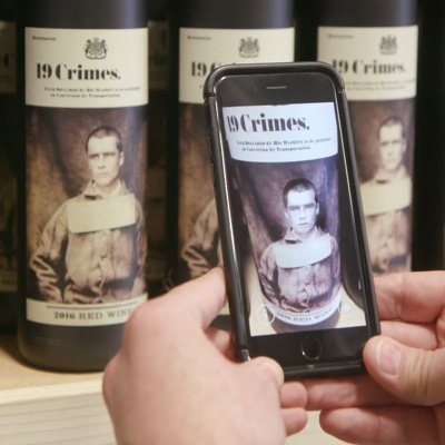 Augmented reality wine retailers