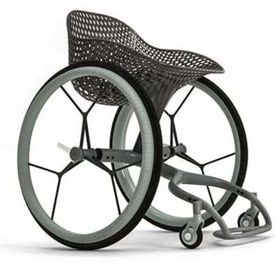 wheelchair created on 3-D printer