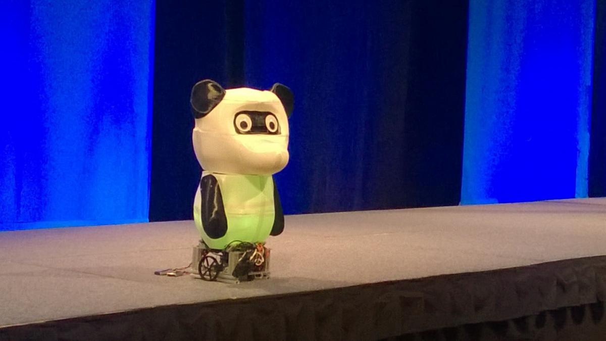 bamboo, Windows 10 IoT Core and Intel® Joule-powered robot