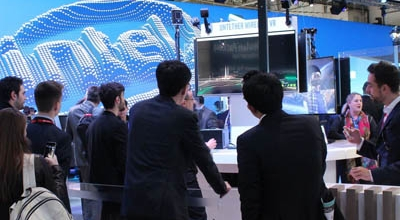 Mobile World Congress 2017 Intel booth
